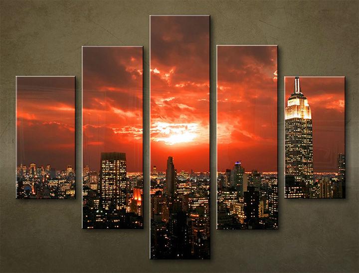 Image of Obraz na stenu Zľava 25 % 5 dielny MESTO 100x80 cm MIA_0043_5EL/24h (objednajte do 12:00 s doručením do 24 hodín)