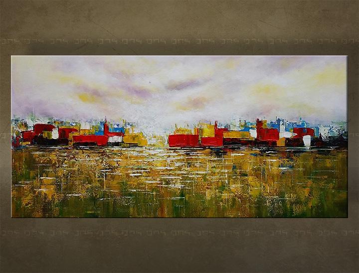 Ručne maľovaný obraz Zľava 25 % na stenu ABSTRAKT 40X80 cm FB475E1/24h (objednajte do 12:00 s doručením do 24 hodín)
