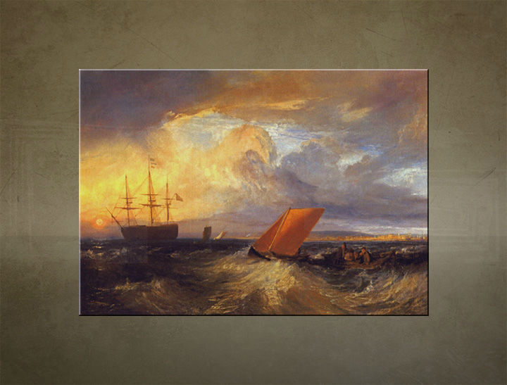 Obraz na plátne Zľava 35% SHEERNESS VISTA DAL NORE – William Turner 100X70cm