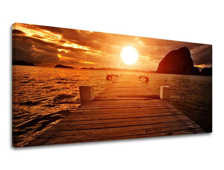Obraz na stenu PANORÁMA ZÁPAD SLNKA 60x120 cm ZS017E13/24h (skladom)