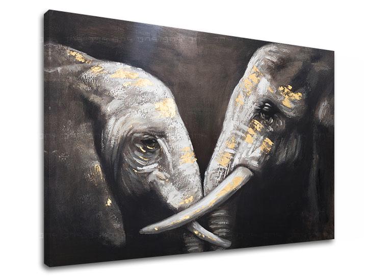 Obraz na plátne Zľava 60% SLONY 1-dielny 90x60 cm XOBCHAN083/24h (skladom)