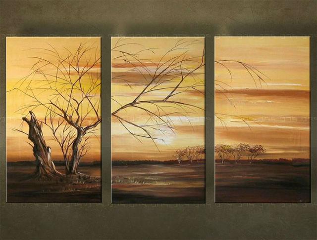 Ručne maľovaný obraz STROM 3 dielny 2267FA (RUčNE MAľOVANé OBRAZY)