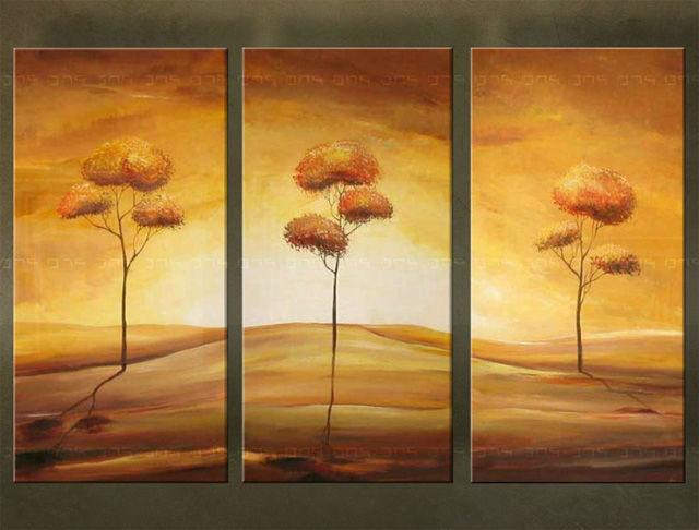 Ručne maľovaný obraz STROM 3 dielny 2711FA (RUčNE MAľOVANé OBRAZY)