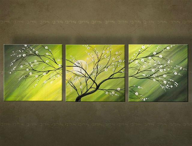 Ručne maľovaný obraz STROM 3 dielny 2918FA (RUčNE MAľOVANé OBRAZY)