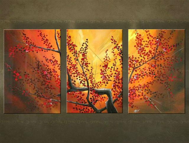 Ručne maľovaný obraz STROM 3 dielny 3059FA (RUčNE MAľOVANé OBRAZY)