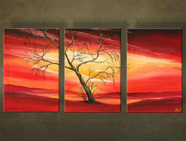Ručne maľovaný obraz STROM 3 dielny 3247FA (RUčNE MAľOVANé OBRAZY)