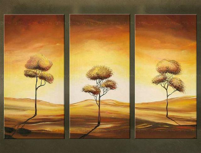 Ručne maľovaný obraz STROM 3 dielny 3267FA (RUčNE MAľOVANé OBRAZY)