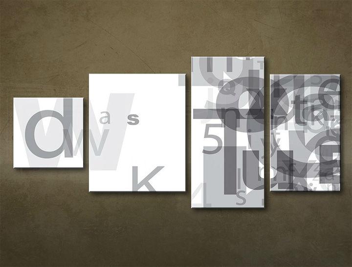 Image of Obraz na stenu 4 dielny ABSTRAKT ABI_0001_4EL (moderný 4 dielny obraz na plátne)