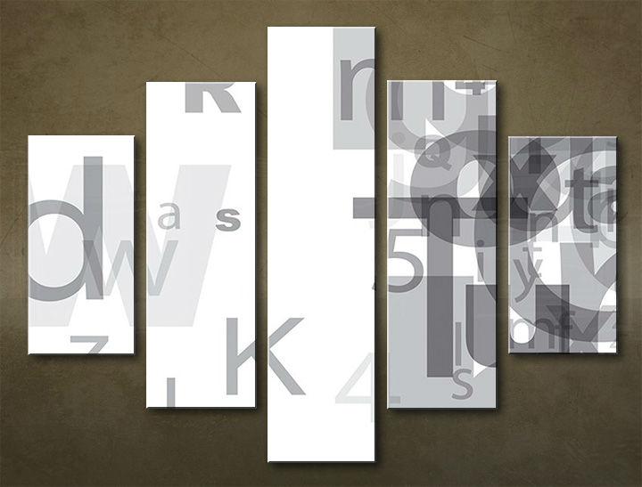 Image of Obraz na stenu 5 dielny ABSTRAKT ABI_0001_5EL (obraz na plátne)