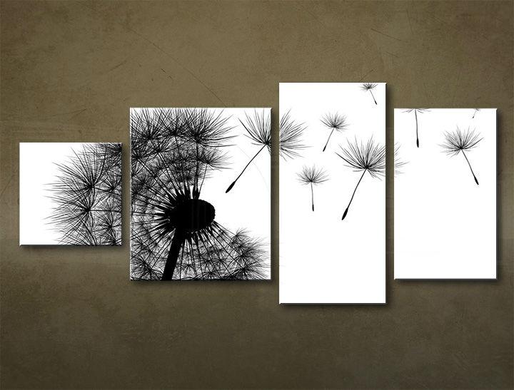 Image of Obraz na stenu 4 dielny ABSTRAKT ABI_0004_4EL (moderný 4 dielny obraz na plátne)