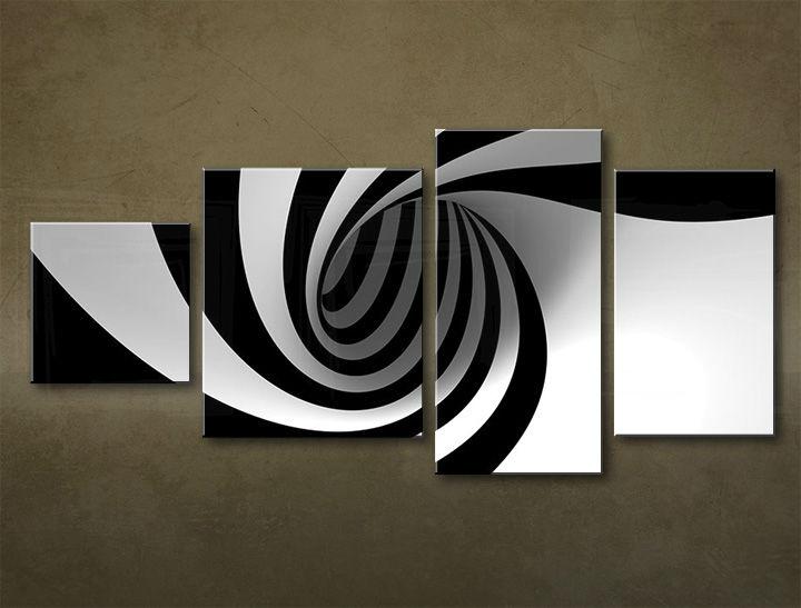 Image of Obraz na stenu 4 dielny ABSTRAKT ABI_0007_4EL (moderný 4 dielny obraz na plátne)