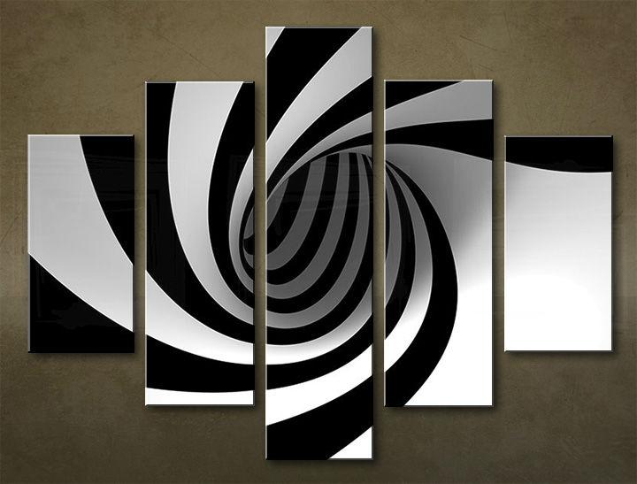 Image of Obraz na stenu 5 dielny ABSTRAKT ABI_0007_5EL (obraz na plátne)
