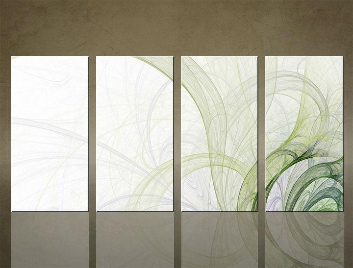 Image of Obraz na stenu 4 dielny ABSTRAKT ABI_0017_4ELX (obrazy na plátne)