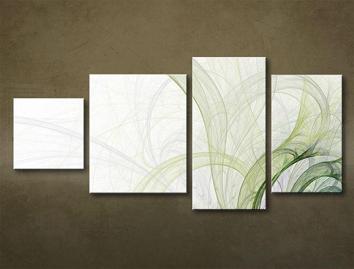 Image of Obraz na stenu 4 dielny ABSTRAKT ABI_0017_4EL (moderný 4 dielny obraz na plátne)
