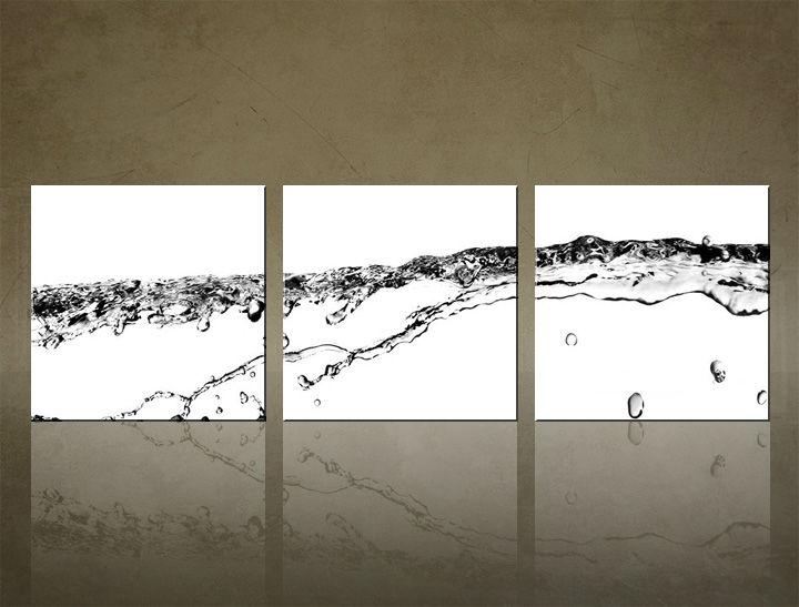 Image of Obraz na stenu 3 dielny ABSTRAKT ABI_0019_3ELK (štvorce 3 dielny obraz na plátne)