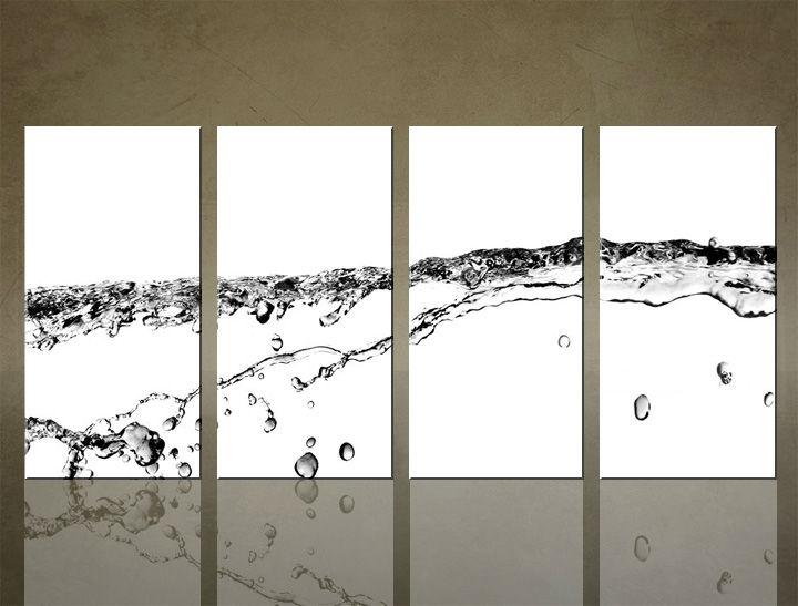 Image of Obraz na stenu 4 dielny ABSTRAKT ABI_0019_4ELX (obrazy na plátne)