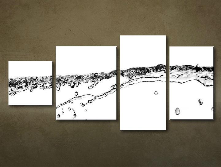 Image of Obraz na stenu 4 dielny ABSTRAKT ABI_0019_4EL (moderný 4 dielny obraz na plátne)