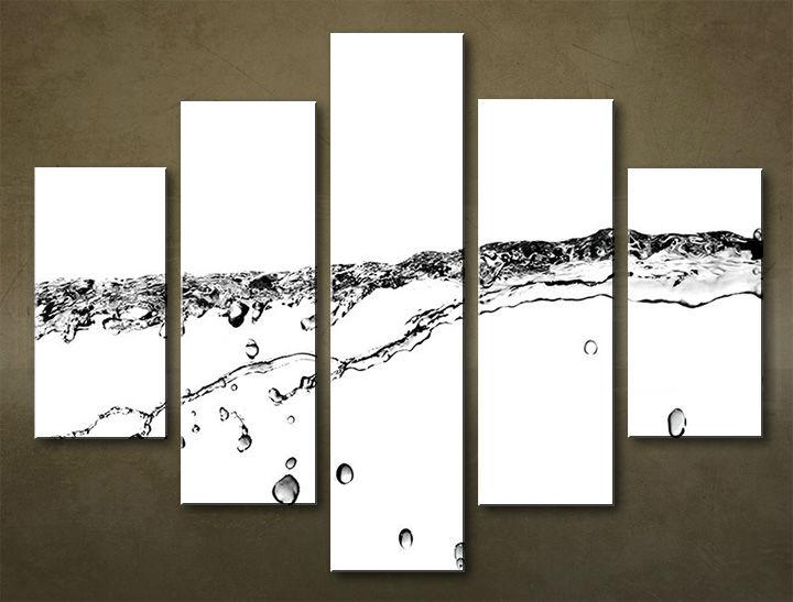 Image of Obraz na stenu 5 dielny ABSTRAKT ABI_0019_5EL (obraz na plátne)