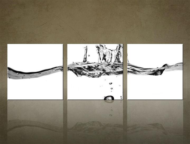 Image of Obraz na stenu 3 dielny ABSTRAKT ABI_0021_3ELK (štvorce 3 dielny obraz na plátne)
