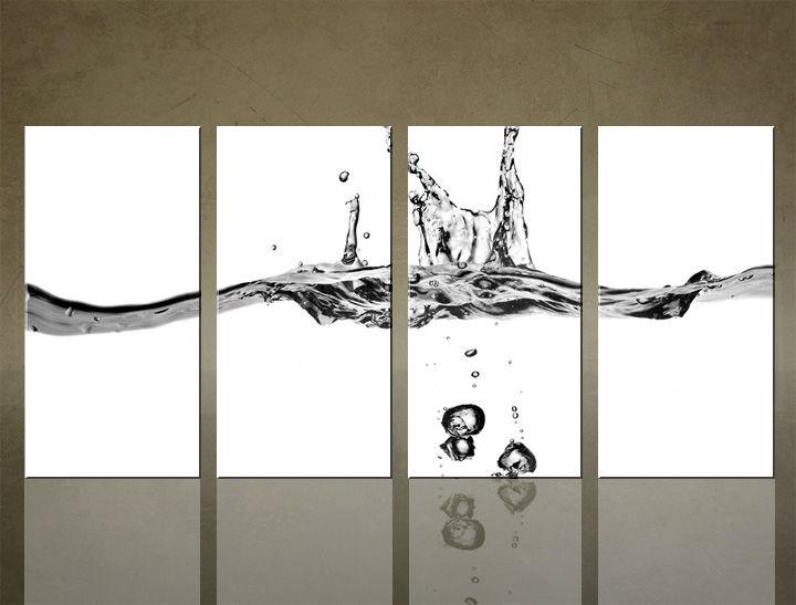 Image of Obraz na stenu 4 dielny ABSTRAKT ABI_0021_4ELX (obrazy na plátne)