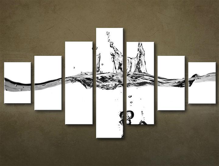 Image of Obraz na plátne 7 dielny ABSTRAKT ABI_0021_7EL (obrazy na stenu)