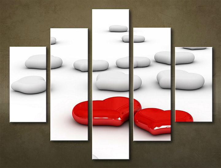Image of Obraz na stenu 5 dielny ABSTRAKT ABI_0026_5EL (obraz na plátne)