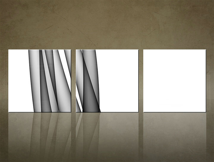 Image of Obraz na stenu 3 dielny ABSTRAKT ABI_0027_3ELK (štvorce 3 dielny obraz na plátne)