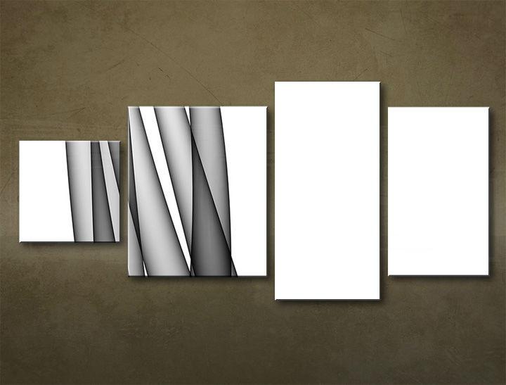 Image of Obraz na stenu 4 dielny ABSTRAKT ABI_0027_4EL (moderný 4 dielny obraz na plátne)