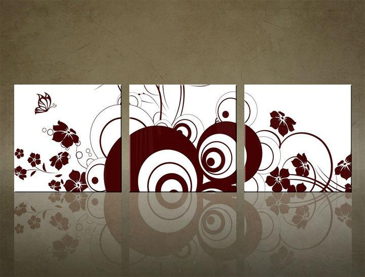 Image of Obraz na stenu 3 dielny ABSTRAKT ABI_0028_3ELK (štvorce 3 dielny obraz na plátne)