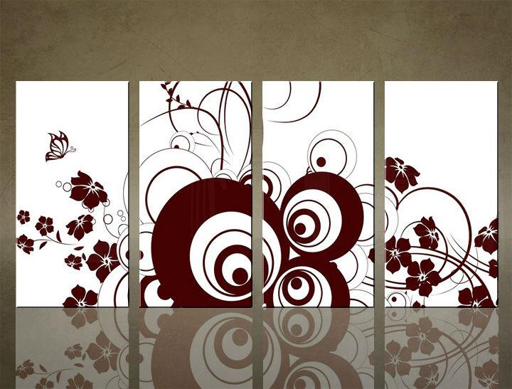 Image of Obraz na stenu 4 dielny ABSTRAKT ABI_0028_4ELX (obrazy na plátne)