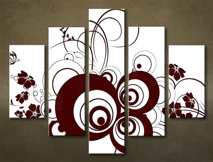 Image of Obraz na stenu 5 dielny ABSTRAKT ABI_0028_5EL (obraz na plátne)