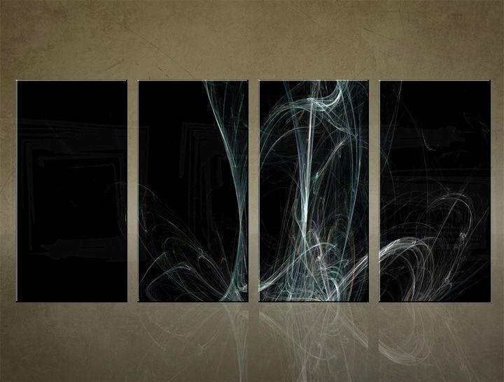 Image of Obraz na stenu 4 dielny ABSTRAKT ABI_0032_4ELX (obrazy na plátne)