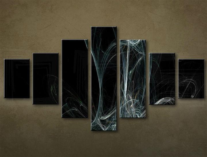 Image of Obraz na plátne 7 dielny ABSTRAKT ABI_0032_7EL (obrazy na stenu)