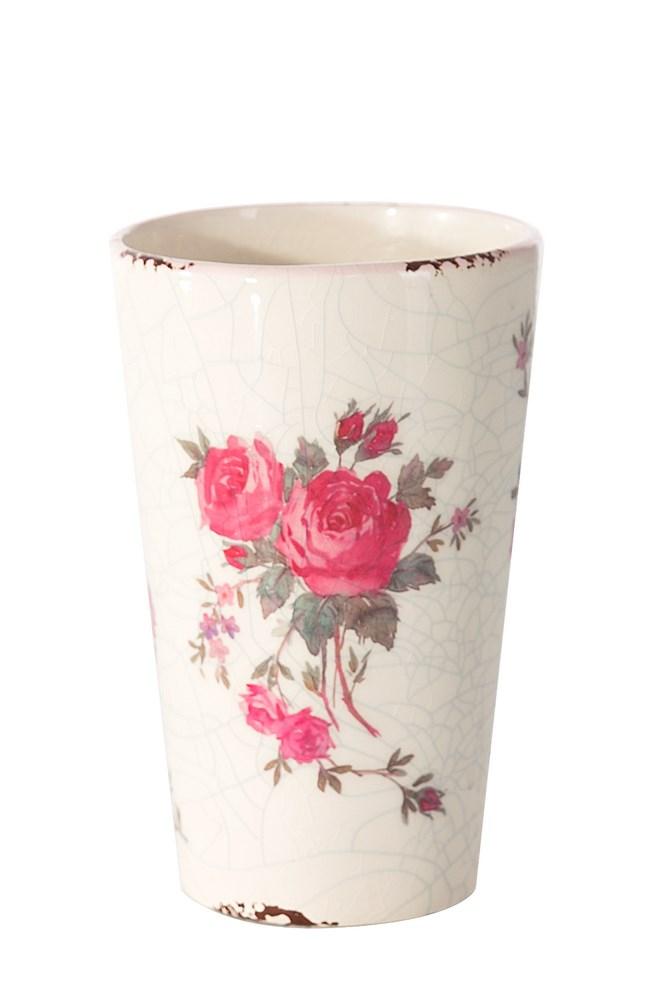 Keramická váza MACY 9x9x13 cm (Luxusné vázy)