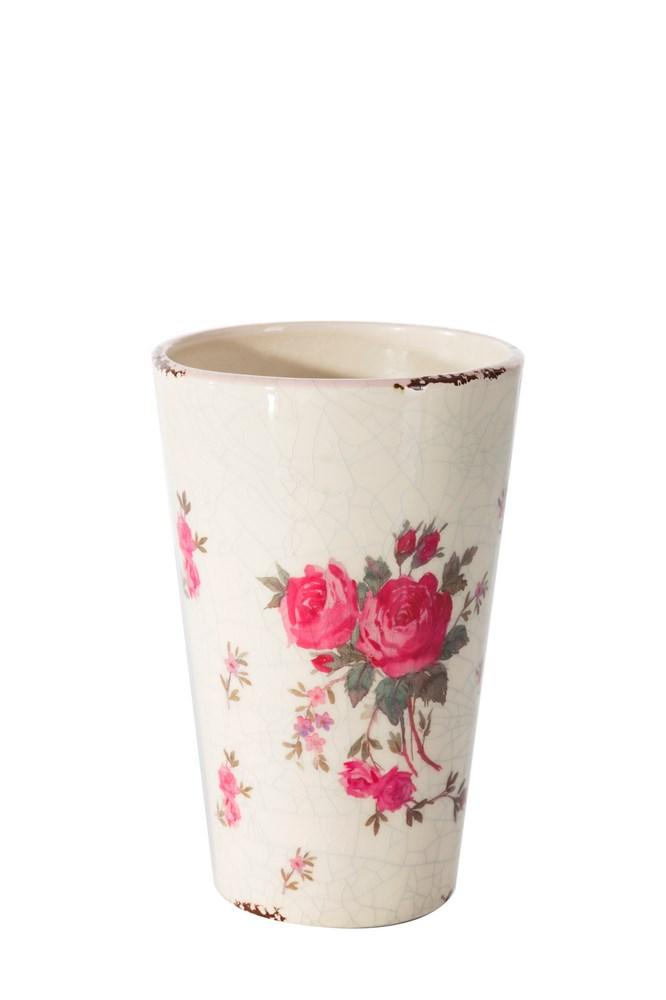 Keramická váza MACY 11x11x18 cm (Luxusné vázy)