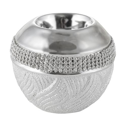 Strieborný svietnik OLSEN 9 cm (svietnik na čajovú sviečku)