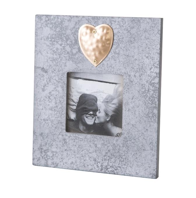 Dekoračný fotorámček HEART 14x1x16 cm (Dekorácie a keramika)