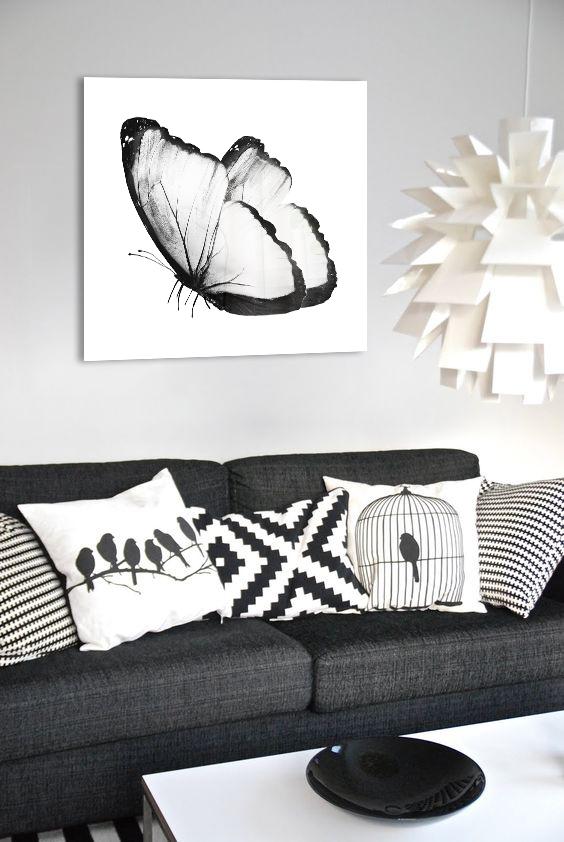Obraz Biely Motýľ na zrkadle Mirrora 20 - 50x50 cm (Obrazy Mirrora)