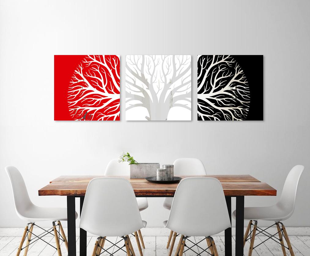 Obraz Farebný Strom na zrkadle Mirrora 49 - 50x150 cm (Obrazy Mirrora)