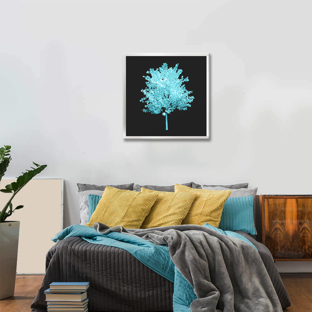 Obraz Tyrkysový Strom na zrkadle Mirrora 57 - 50x50 cm (Obrazy Mirrora)