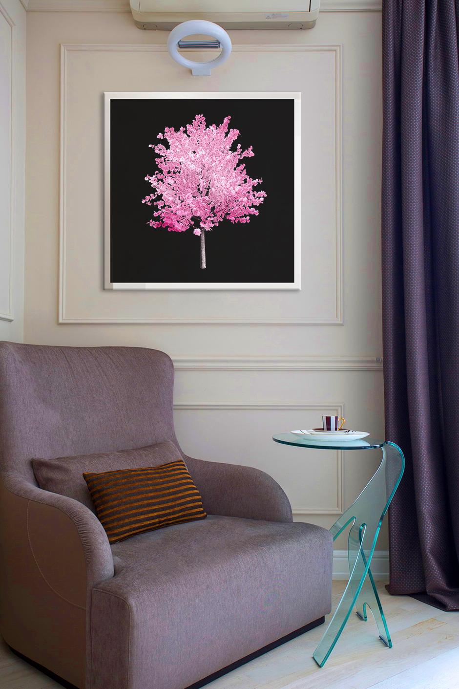 Obraz Ružový Strom na zrkadle Mirrora 58 - 50x50 cm (Obrazy Mirrora)
