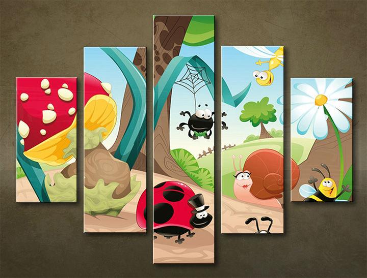 Image of Obraz na stenu 5 dielny DETI DZI_0005_5EL (obraz na plátne)