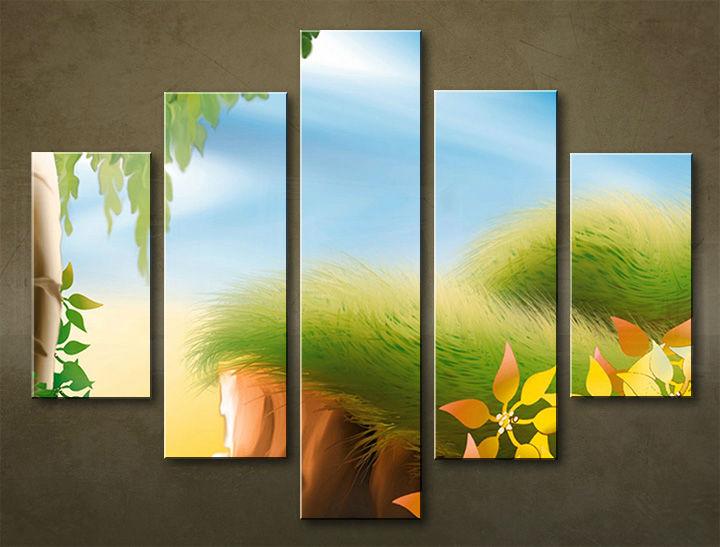 Image of Obraz na stenu 5 dielny DETI DZI_0009_5EL (obraz na plátne)