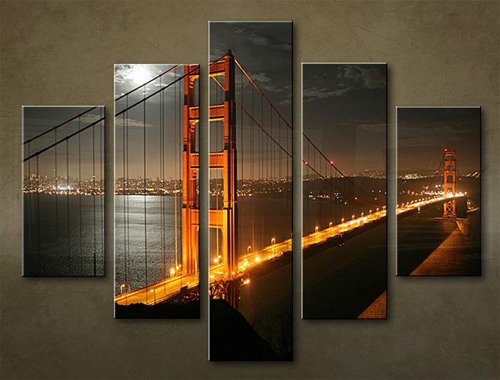 Image of Obraz na stenu 5 dielny MESTO MIA_0003_5EL (obraz na plátne)