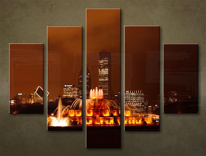 Image of Obraz na stenu 5 dielny MESTO MIA_0005_5EL (obraz na plátne)