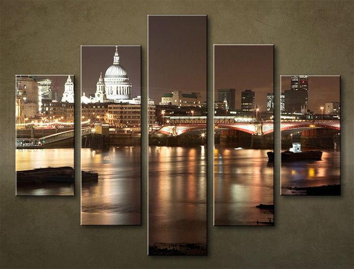 Image of Obraz na stenu 5 dielny MESTO MIA_0009_5EL (obraz na plátne)