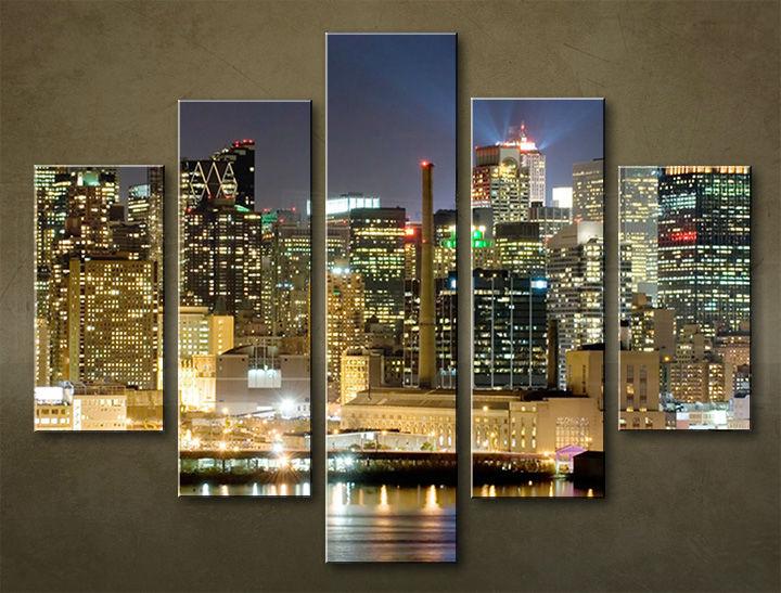 Image of Obraz na stenu 5 dielny MESTO MIA_0010_5EL (obraz na plátne)