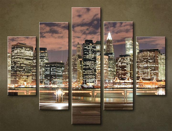 Image of Obraz na stenu 5 dielny MESTO MIA_0011_5EL (obraz na plátne)