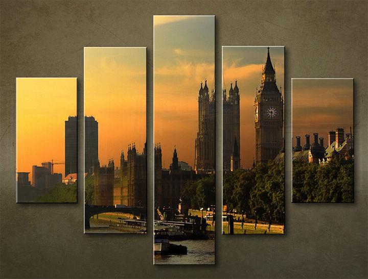 Image of Obraz na stenu 5 dielny MESTO MIA_0012_5EL (obraz na plátne)