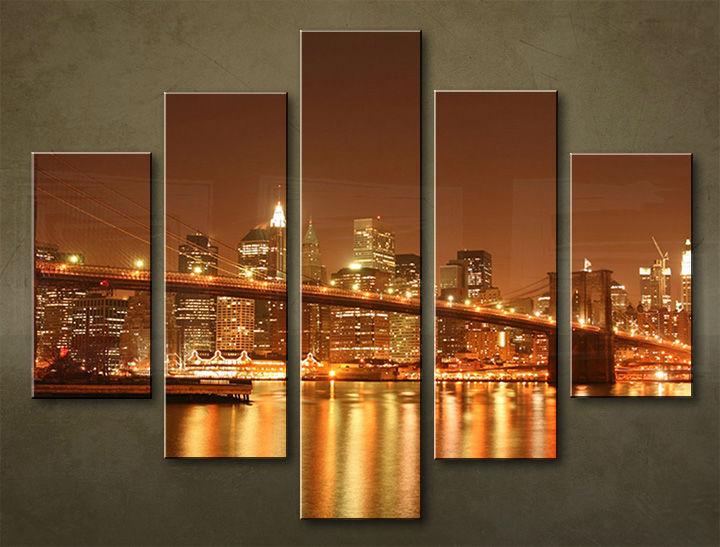 Image of Obraz na stenu 5 dielny MESTO MIA_0013_5EL (obraz na plátne)